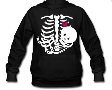 Maternity Skeleton Hoodie