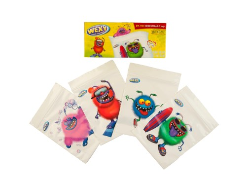 WEXY Fun Colorful Snack Bags