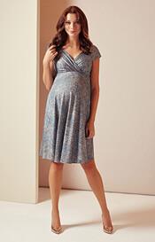 Alessandra Maternity Dress Short (Bronze Blue)