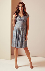 Alessandra Maternity Dress Short (Bronze Blue)