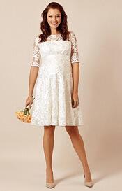 Asha Maternity Wedding Dress Ivory