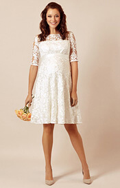 Asha Maternity Wedding Dress Ivory