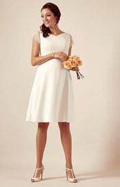 Eleanor Maternity Wedding Dress Ivory