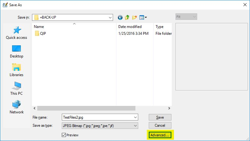How to change (how to set) TIFF compression    Advanced TIFF