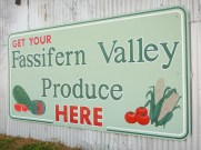 Fassifern Valley Produce sign on side of shed