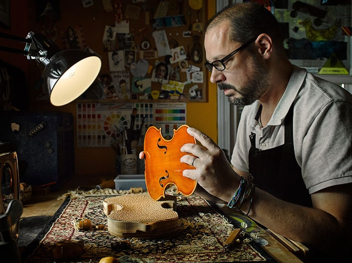Personal Work: Custom string instrument restorer and creator Erik Grausam