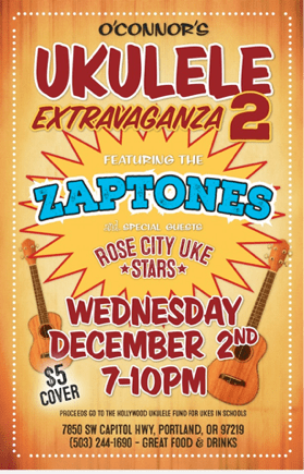 Rose City Uke Stars Playing on December 2nd