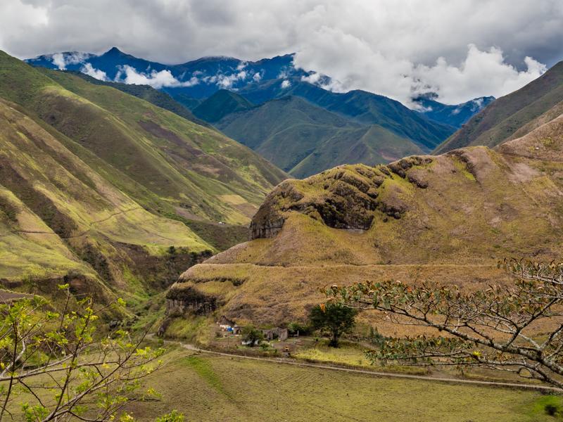 Ecuador Las Penas Triumph Tiger 800 RTW motorcycle adventure