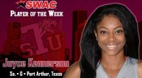 Sophomore guard averages 23.0 points per game in sweeping Alcorn State and Southern this past weekend. …read more Related posts: Kennerson scores a career-high 30 points as Lady Tigers defeat […]