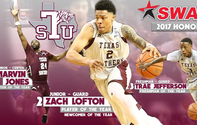 TSU MBB Sweeps 2017 SWAC Postseason Awards