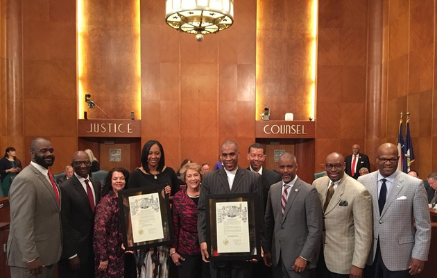 Men's and Women's Basketball Teams receive Proclamations from Houston City Council