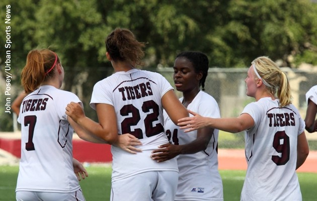 Three first-half goals lift Lady Tigers past Alcorn State