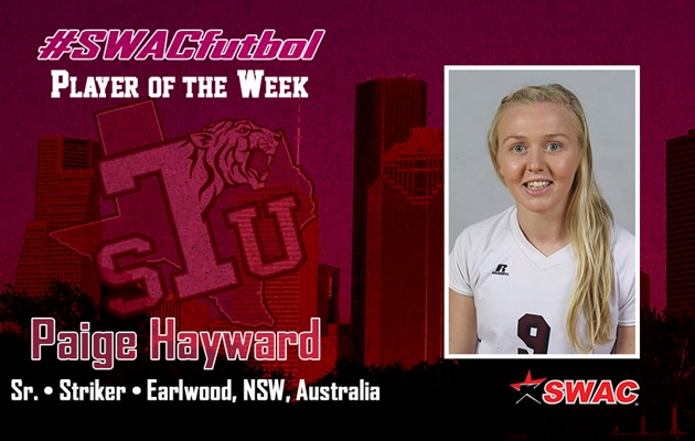 Hayward named SWAC Offensive Player of the Week