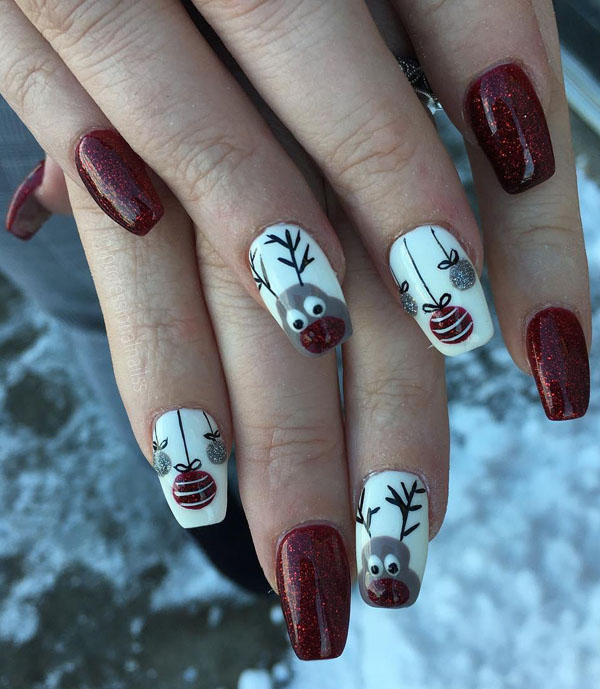 60 Festive Christmas Nail Art Designs Ideas For 2020 Page 35 Tiger Feng