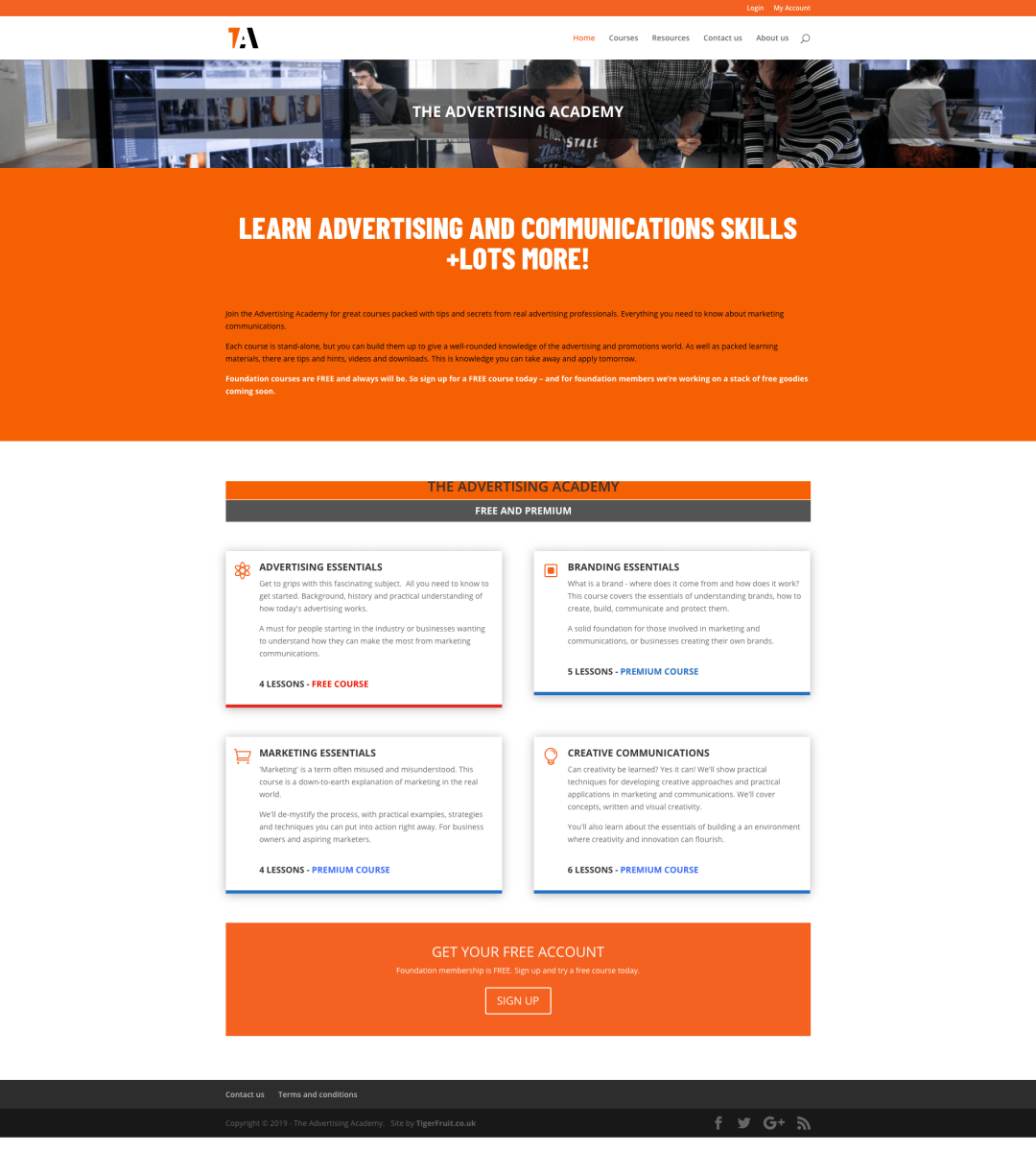 Online learning site