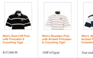 50% off all items this week only! White polos for only your first born son!