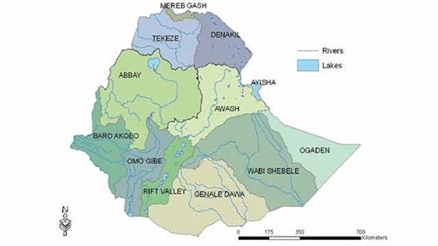 New administrative map for Ethiopia