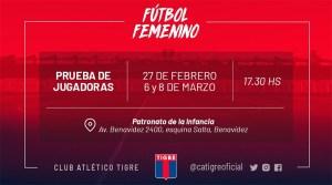 El fútbol femenino da su primer paso