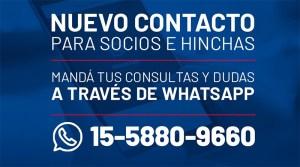 """El Club anuncia la """"Línea de Whatapp"""""""