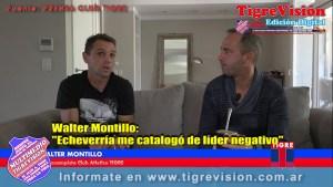 """Walter Montillo: """"Echeverría me catalogó de líder negativo"""""""