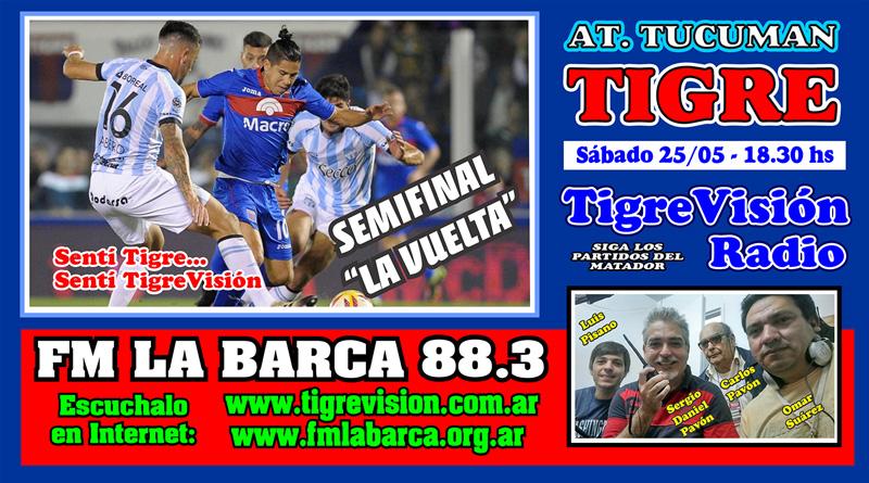 Tigre busca la final en Tucumán