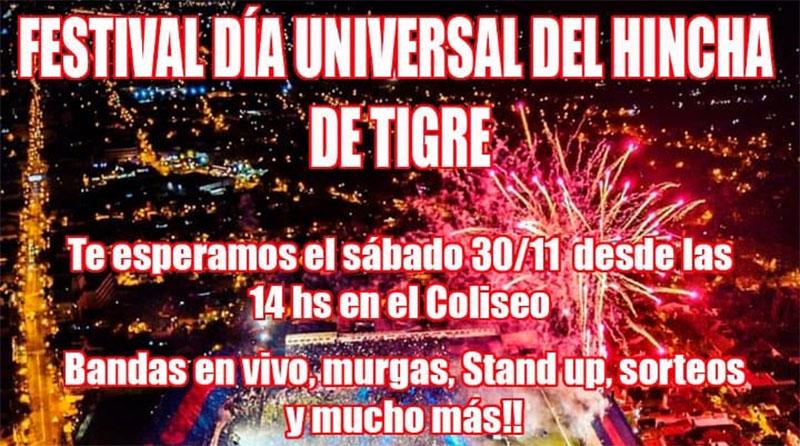 Festejo Del Día Universal del Hincha de TIGRE
