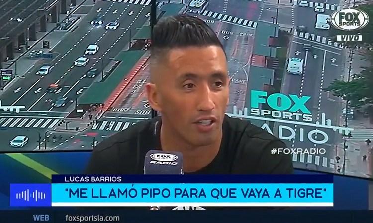Lucas Barrios agradeció el llamado de Gorosito