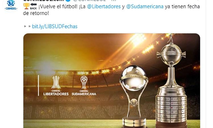 El 15 de septiembre se reanuda la Libertadores