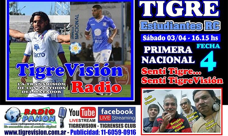 Tigre recibe a Estudiantes RC