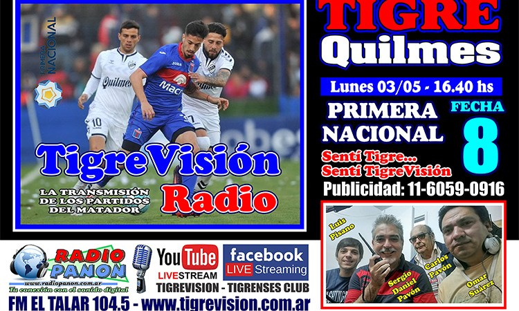 Tigre defiende la punta ante Quilmes