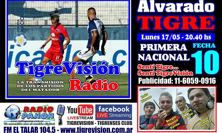 Tigre visita a Alvarado