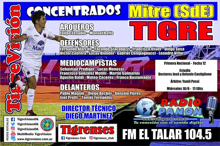 Concentrados para viajar a Santiago del Estero