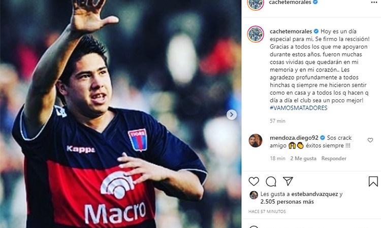 Diego Morales dejó de ser jugador de Tigre