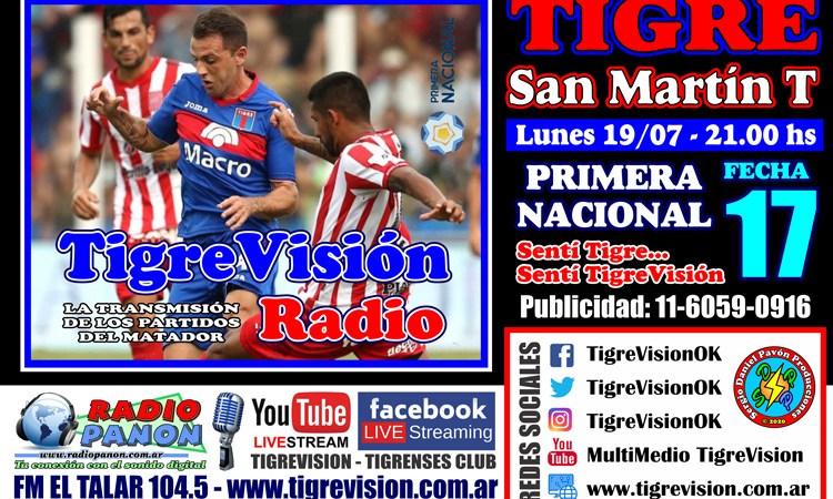 Tigre y San Martín de Tucumán cierran la primera rueda