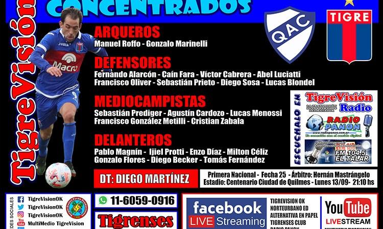 Concentrados para enfrentar a Quilmes