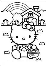 Planse De Colorat Cu Hello Kitty Tigrisorro