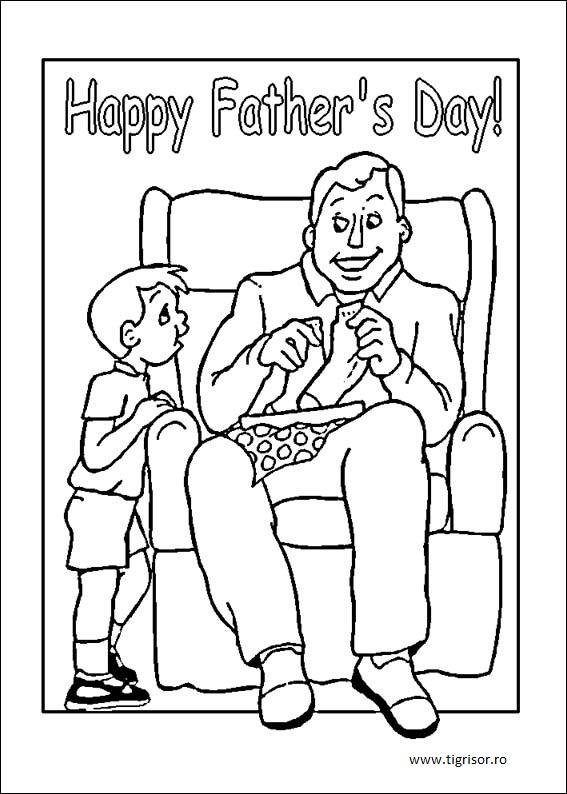 Planse De Colorat Pentru Ziua Tatilor Archives Tigrisorro