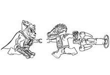 lego chima Lennox vs Cragger mic