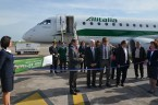 Inauguration of Alitalia at Montpelier Airport, with Tigrox