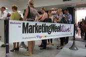 Tigrox in use at Marketing Week Live! 2012 to facilitate registration queue footfall.