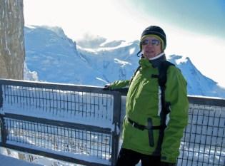 Aiguille du Midi 3842 metrin korkeudella