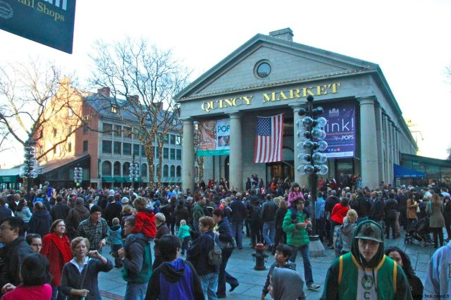 Quincy Market in Boston on Black Friday