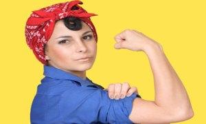 Vrouw met spierballen