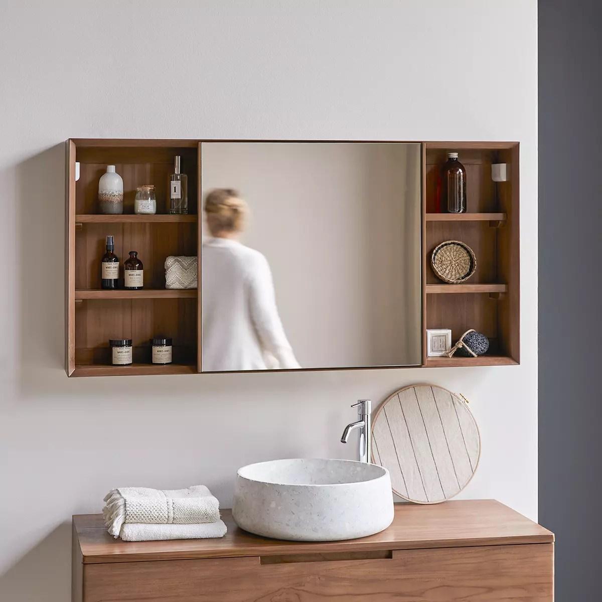 armoire de toilette en teck massif 120 taylor