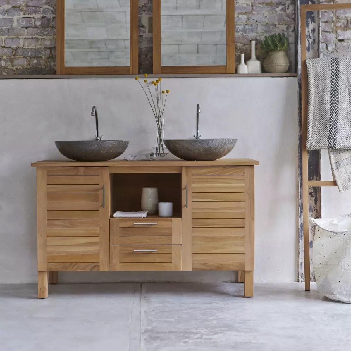 meuble salle de bain en teck massif 125 soho