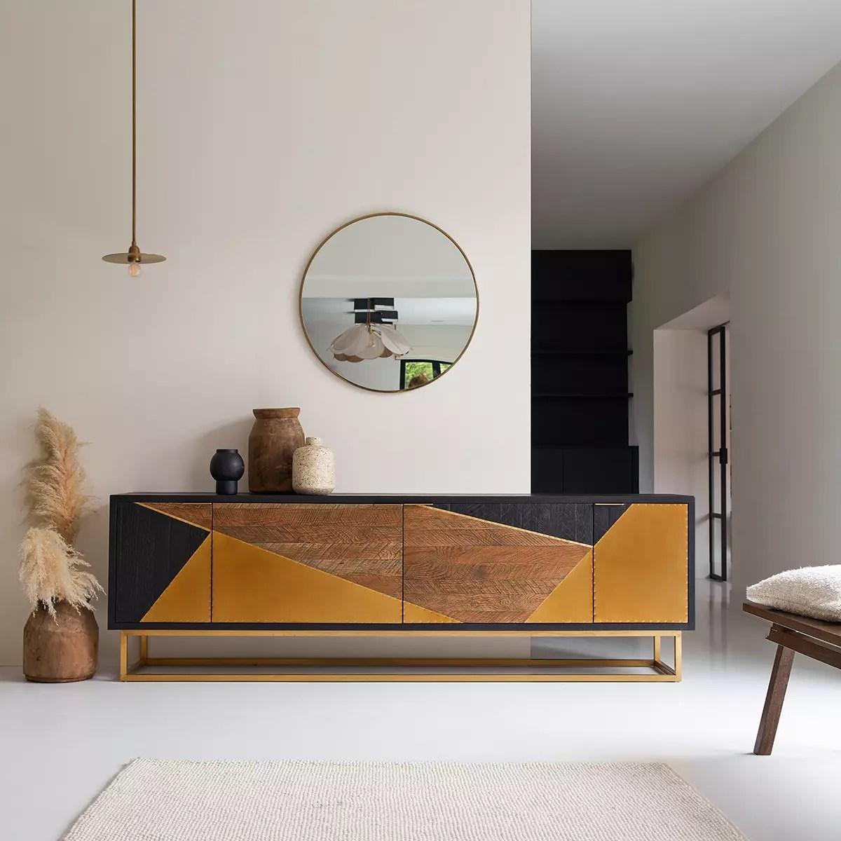 meuble tv en chene oscar 240 cm