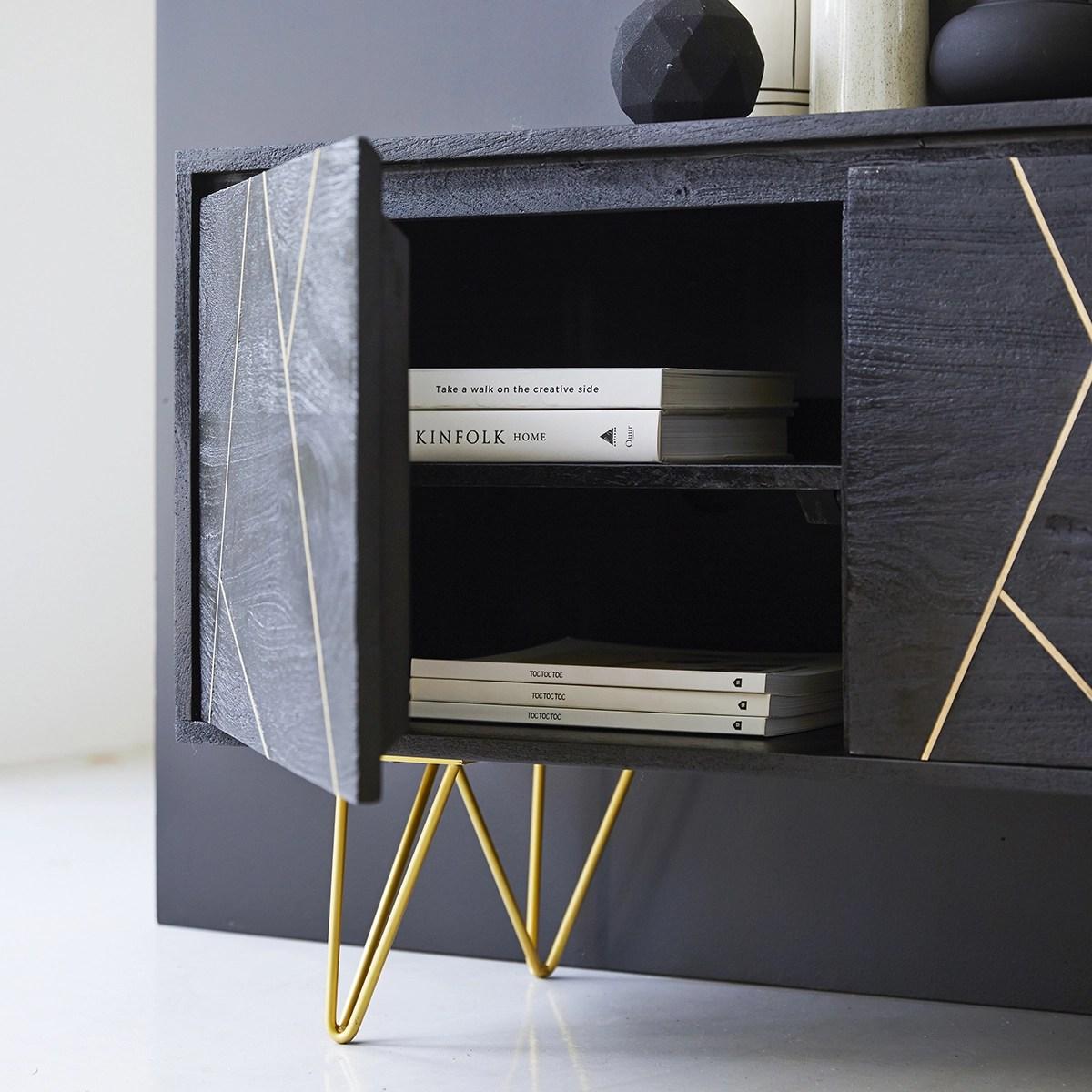meuble tv en manguier massif liv 150 cm