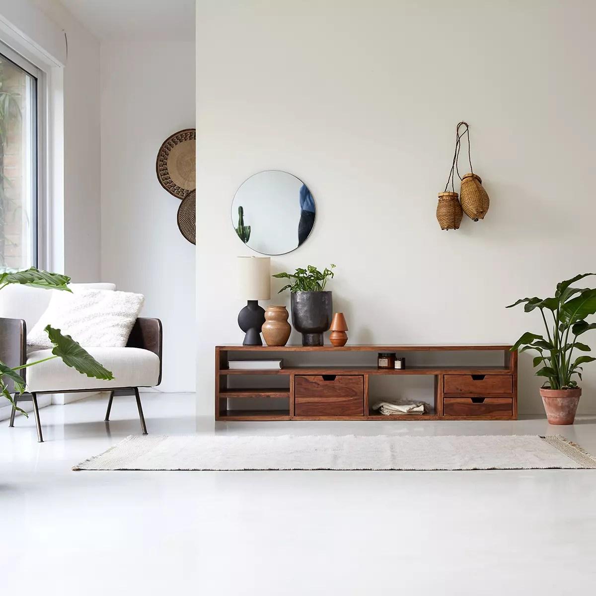 meuble tv en palissandre massif kwarto 170 cm