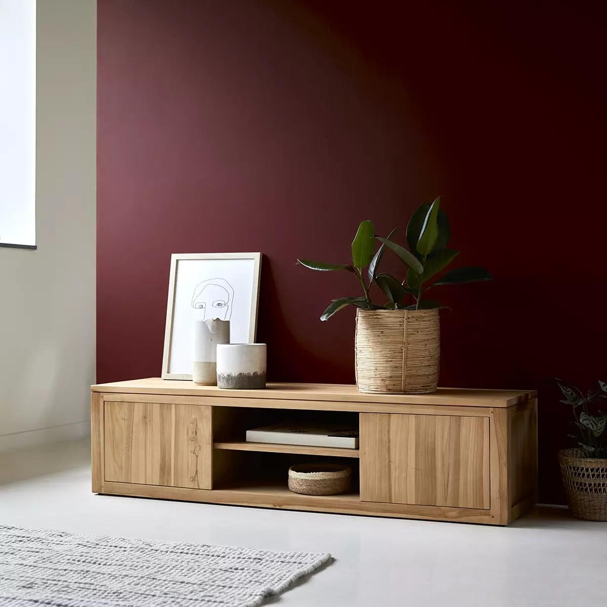 meuble tv en teck basil 140 cm