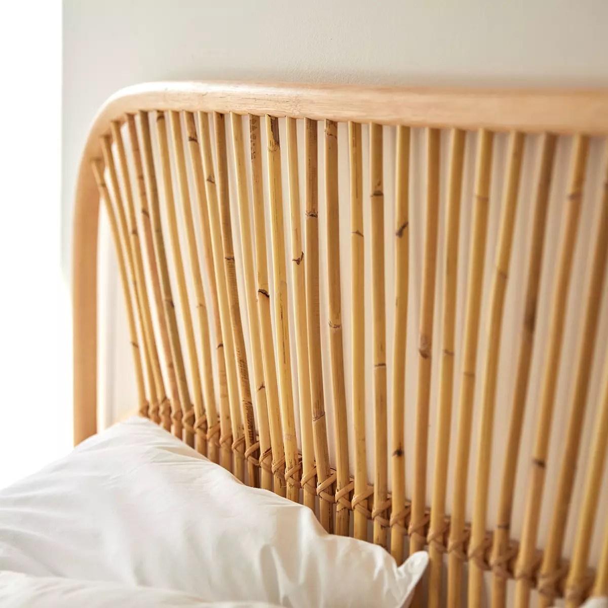 tete de lit en rotin 160 cm colette